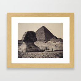 Francis Bedford (1815-94) The Sphinx, the Great Pyramid and two lesser Pyramids, Ghizeh, Egypt 4 Mar Framed Art Print
