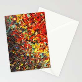 END OF THE RAINBOW - Bold Multicolor Abstract Colorful Nature Inspired Sunrise Sunset Ocean Theme Stationery Cards