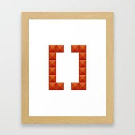 Square brackets sign print in beautiful design Fashion Modern Style Framed Art Print