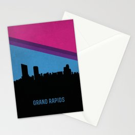 Grand Rapids Skyline Stationery Cards