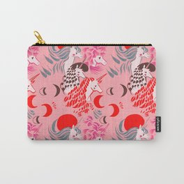 Unicorns at Sunset Pattern Carry-All Pouch