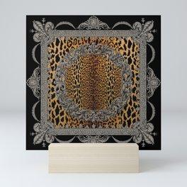Baroque Leopard Scarf Mini Art Print