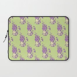 Lilac Cat Wears Tibracorn Onesie Laptop Sleeve