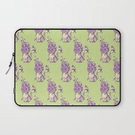 Lilac Cat Wears Tibracorn Onesie Laptop Sleeve