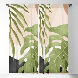 Abstract Art Tropical Leaves 21 Blackout Curtain