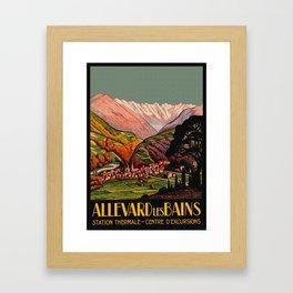 Allevard France - Vintage Travel Poster Framed Art Print