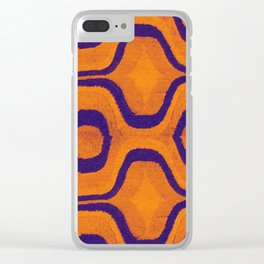 HOMEMADE SEVENTIES ORANGE PATTERN Clear iPhone Case