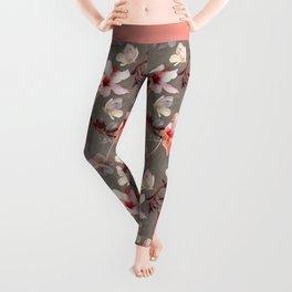 Coral Hibiscus Leggings