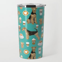 Airedale Terrier coffee print airedale terrier gifts airedale terrier phone case, pillow, home Travel Mug