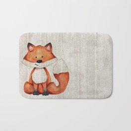 Little Fox, Baby Fox, Baby Animals, Forest Critters, Woodland Animals, Nursery Art Bath Mat