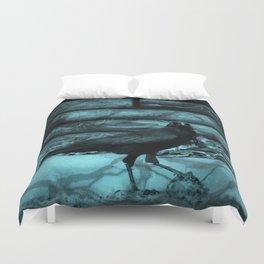 Blue Crow Shadows Duvet Cover