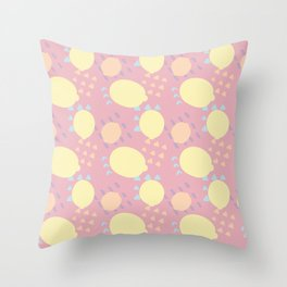 Summer Lemon Blast Throw Pillow