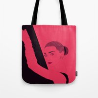 hepburn Tote Bags featuring Hepburn by Agnes Domokos