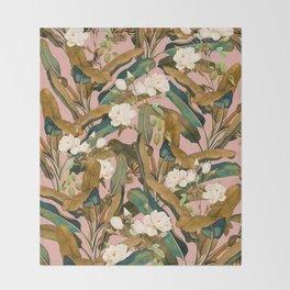 Summer Botanical Garden V Throw Blanket