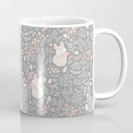 Sleeping Fox - grey pattern design Coffee Mug