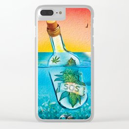 SOS (Marijuana) Clear iPhone Case