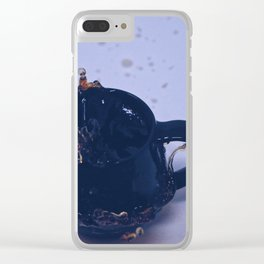 I'm not addicted to coffee, we are just in a commited relationship Clear iPhone Case