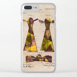 patent Tie - 1902 - Glahn Clear iPhone Case