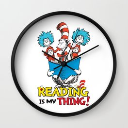 Reading is my thing Wall Clock