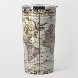Old World map 1652 Travel Mug
