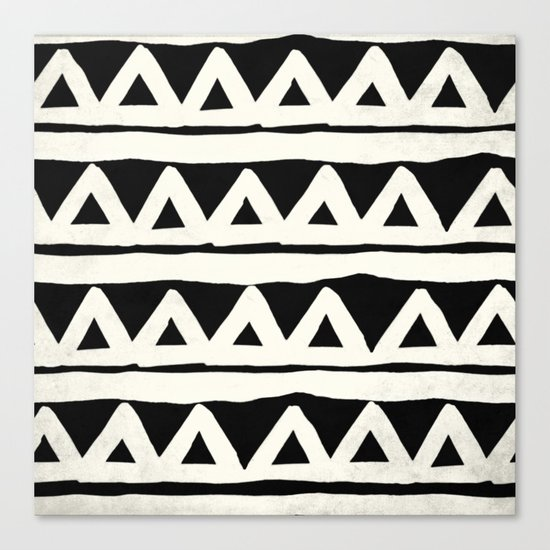 Tribal Chevron Stripes Canvas Print