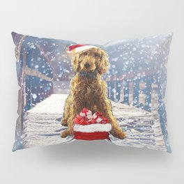 Christmas Golden Doodle Pillow Sham