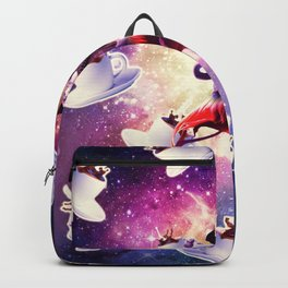 Cowboy Space Cat On Flamingo Unicorn - Coffee Backpack