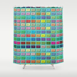 Mix Tape Shower Curtain