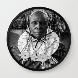 Masai Grandma Wall Clock