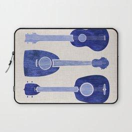 Indigo Blue Ukuleles Laptop Sleeve