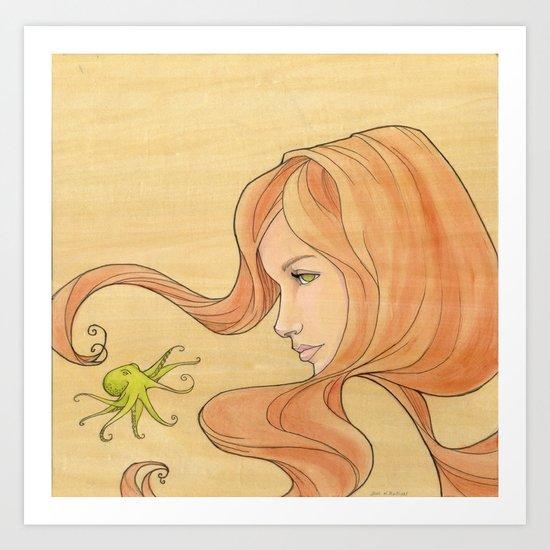 The Octopus Mermaid 1 Art Print