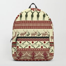 Classic Reindeer Ugly Sweater Backpack