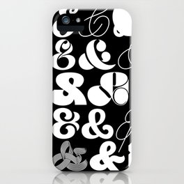 25 Ampersands iPhone Case