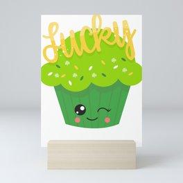 St Paddys Cupcake Lucky Mini Art Print