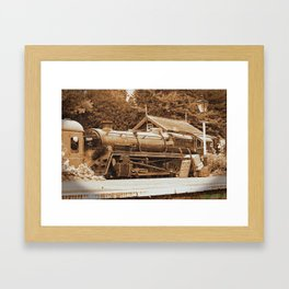 Sepia Stea engine 73129 Framed Art Print