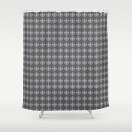 FLEUR DE LIS..... BLUE GRAY Shower Curtain