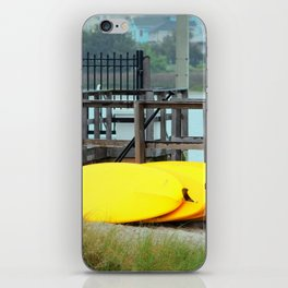 Four Yellow Surfboards iPhone Skin