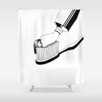 morning Shower Curtains featuring Good Morning by Henn Kim