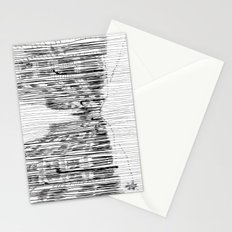 Fog and Rain: Cityscape (WHITEOUT) Stationery Cards
