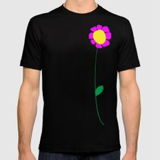 Flower 3 Mens Fitted Tee SMALL Black