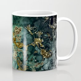 Gold Indigo Malachite Marble Coffee Mug