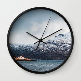Alone House Mountain Wall Clock