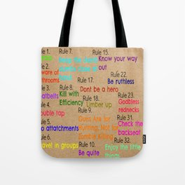 Zombieland Rules Tote Bag
