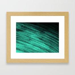 Aqua Step Waves Framed Art Print