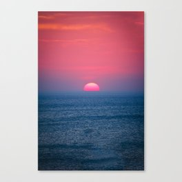 A Perfect Sunset Canvas Print