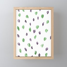Green and Purple Petals Framed Mini Art Print