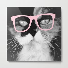 Hippest Cat 1 - Rose Metal Print
