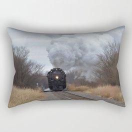 Big Boy Steaming threw Black Wolf Kansas Rectangular Pillow