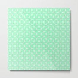 Mint Green Abstract VI Metal Print