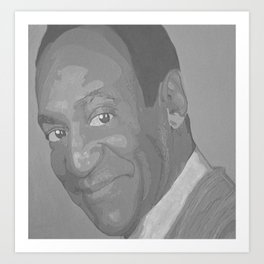 Black and White Bill Cosby Art Print